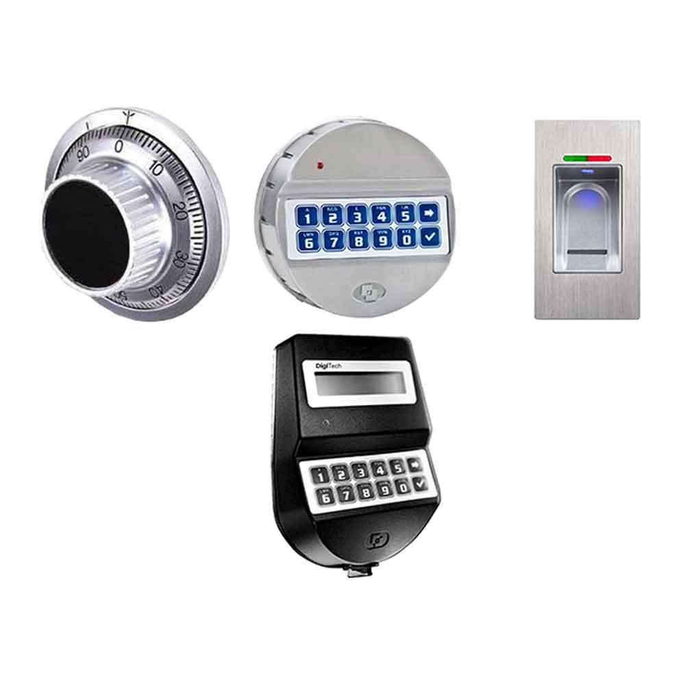 Sistemas de cierre de las cajas fuertes - Combinación digital - Combinación mecánica - Combinación digital